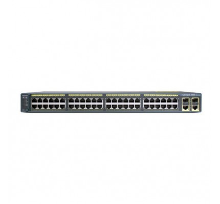 Коммутатор Cisco Catalyst 2960 Plus 48 10/100 PoE+ 2 1000BT+2 SFP LAN Lite (WS-C2960+48PST-S)