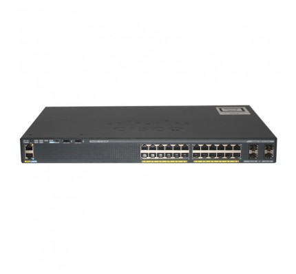 Коммутатор Cisco Catalyst 2960-X 24 GigE PoE 370W, 4 x 1G SFP, LAN Base (WS-C2960X-24PS-L)