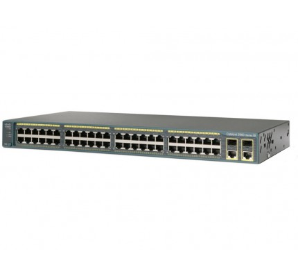 Коммутатор Cisco Catalyst 2960 Plus 48 10/100 PoE + 2 1000BT +2 SFP LAN Base (WS-C2960+48PST-L)