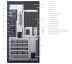 Сервер DELL EMC PE T40 Server/Up to 3.5'' Cabled HDD/Xeon E-2224G 3.5GHz, 4C/4T/8GB UDIMM/1TB 7.2K RPM SATA 6Gbps Entry 3.5'' Cabled HDD/300W PSU/D