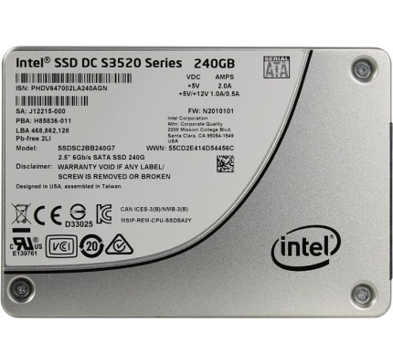 "SSD Накопитель INTEL SATA 2.5"" 240GB MLC/S3520 SSDSC2BB240G701"