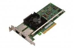 Сетевой адаптер Intel X540 -T2 10G Dual Ports PCIe x8 Ethernet Converged Network Adapter Active Cooling(3DFV8) / 5065